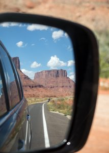 Roadtrip door Amerika autospiegel