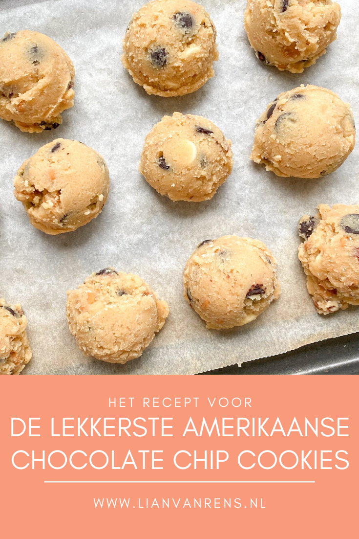 De lekkerste chocolate chip cookies Pinterest