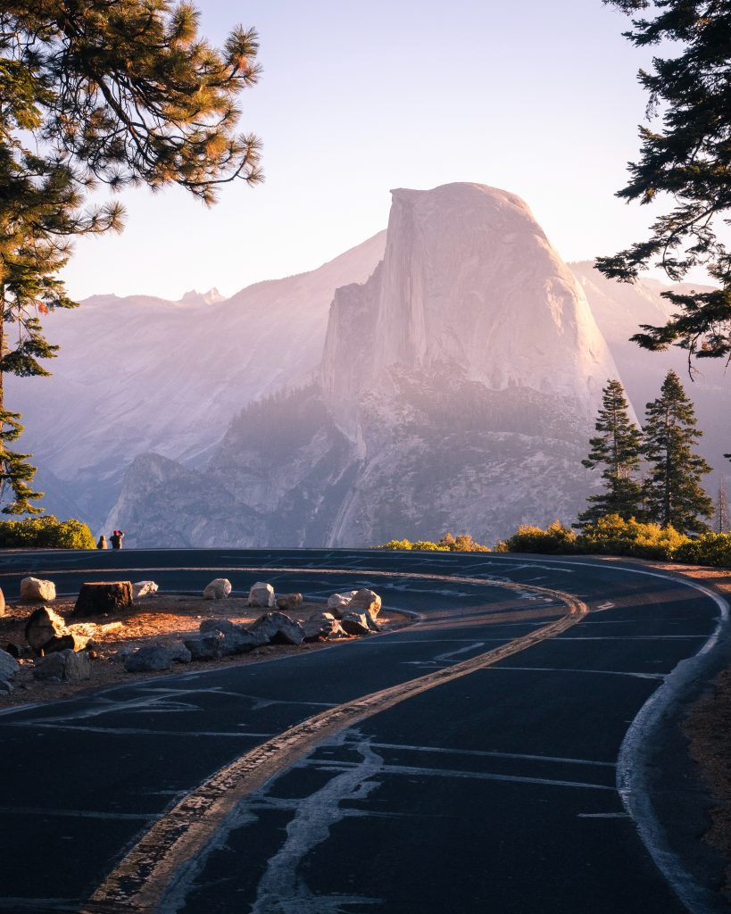 kamperen in Yosemite National Park - Half Dome